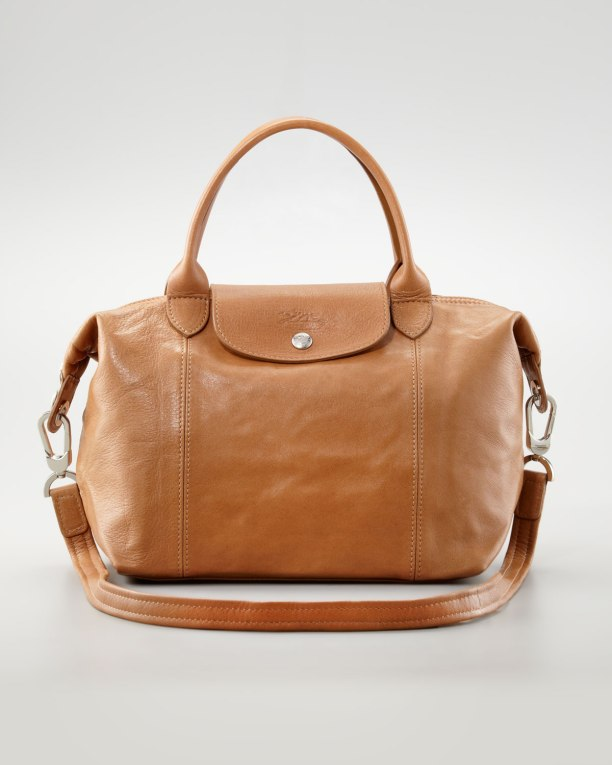 Longchamp-Le-Pliage-Cuir-Small-Handbag-with-Strap