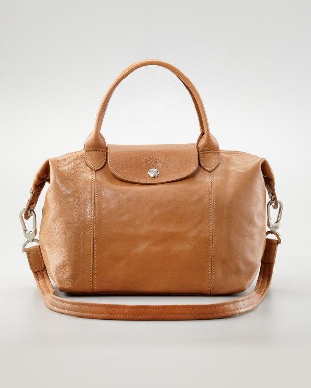 Longchamp-Le-Pliage-Cuir-Small-Handbag-with-Strap